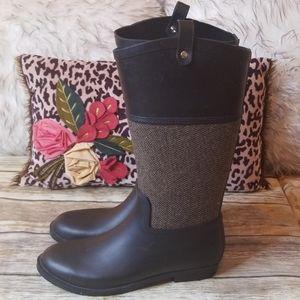 Merona Black Rain Boots